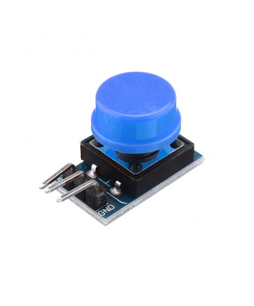 15Pcs 12x12mm Key Switch Module Touch Tact Switch Push Button Non  locking With Cap Red Black Yellow Green Blue