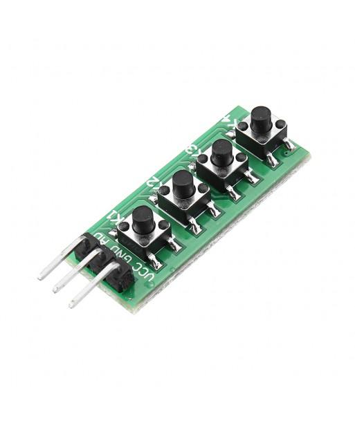 20pcs Keypad 4 Button Key Module Switch Keyboard For UNO MEGA2560 Breadboard