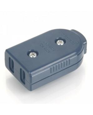 20020008M New ABS 2 Flat Pin Plug Adaptor  250V  Deep Blue